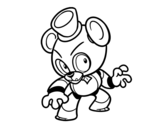 <span class='hidden-xs'>Coloriage de </span>Toy Freddy de Five Nights at Freddy's à colorier
