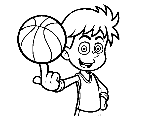 Coloriage de Un basketteur junior pour Colorier