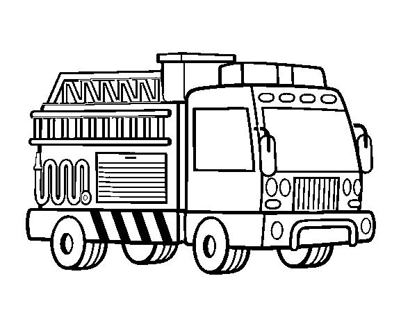 Coloriage De Un Camion De Pompiers Pour Colorier Coloritou Com