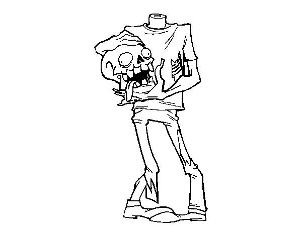 Coloriage de zombie sans t te pour colorier - Coloriage zombie ...