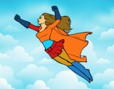 Super girl volant